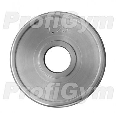 ДТХ-1,25/26. Диск хромированный «ProfiGym» 1,25 кг посадочный диаметр 26 мм