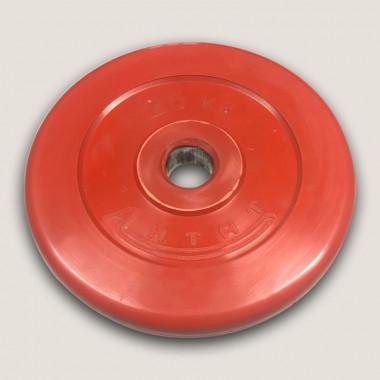 АНц-25. Диск «Антат» цветной обрезиненный 25 кг, посадочный диаметр 26, 31, 51 мм