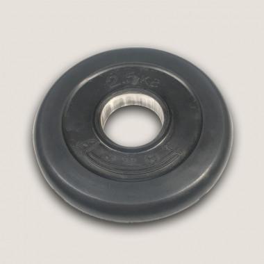 АН-2,5. Диск «Антат» тренировочный обрезиненный 2,5 кг, посадочный диаметр 26, 31, 51 мм