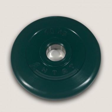 АНц-10. Диск «Антат» цветной обрезиненный 10 кг, посадочный диаметр 26, 31, 51 мм