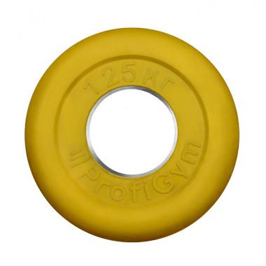 ДТРЦ-1,25/51. Диск «Profigym» тренировочный обрезиненный 1.25 кг цветной 51 мм (металлическая втулка)