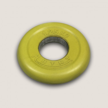 АНц-1,25. Диск «Антат» цветной обрезиненный 1,25 кг, посадочный диаметр 26, 31, 51 мм