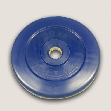 АНц-20. Диск «Антат» цветной обрезиненный 20 кг, посадочный диаметр 26, 31, 51 мм