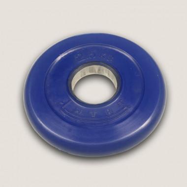 АНц-2,5. Диск «Антат» цветной обрезиненный 2,5 кг, посадочный диаметр 26, 31, 51 мм