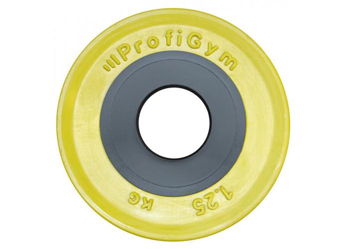 ДОЦ-1,25/51. Диск для штанги олимпийский 1,25 кг желтый