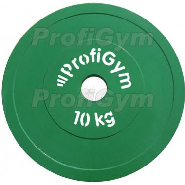 ДПЛ-10. Диск стальной «Powerlifting» с полимерным покрытием, 10 кг