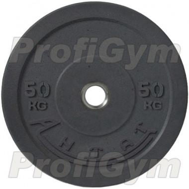 Диск для кроссфита (бампер) черный 50 кг