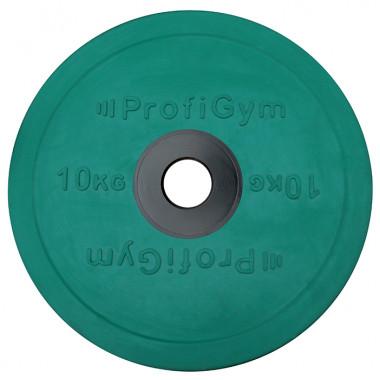 ДОЦ-10/51. Диск для штанги олимпийский 10 кг зеленый
