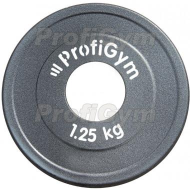 ДПЛ-1,25. Диск стальной «Powerlifting» с полимерным покрытием, 1,25 кг