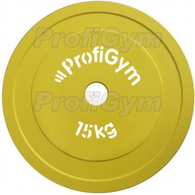 ДПЛ-15. Диск стальной «Powerlifting» с полимерным покрытием, 15 кг