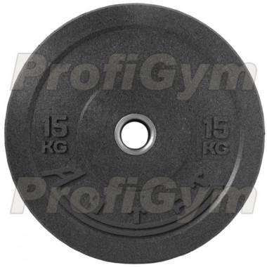 Диск для кроссфита (бампер) черный 15 кг