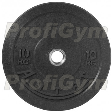 Диск для кроссфита (бампер) черный 10 кг