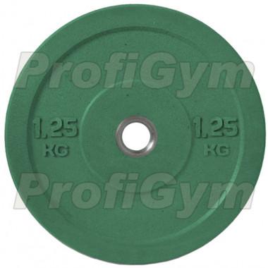Диск для кроссфита (бампер) цветной 1,25 кг