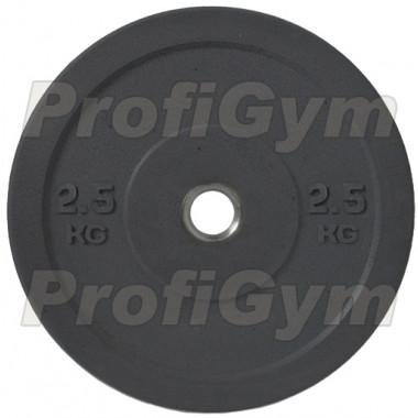 Диск для кроссфита (бампер) черный 2,5 кг