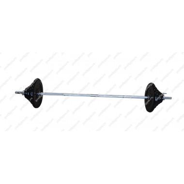 ШТР-80-26. Штанга тренировочная 80кг с грифом 25мм, длиной 1,9м, обрезиненные диски