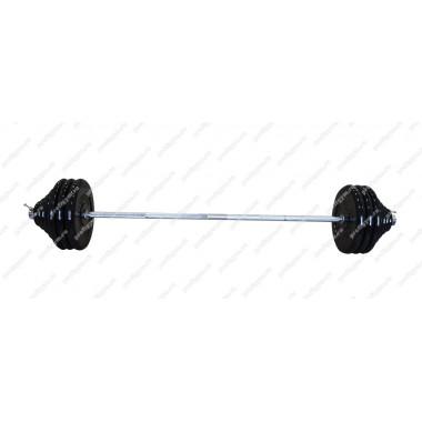 ШТР-150-26. Штанга тренировочная 150кг с грифом 25мм, длиной 1,9м, обрезиненные диски