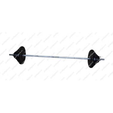 ШТР-90-26. Штанга тренировочная 90кг с грифом 25мм, длиной 1,9м, обрезиненные диски