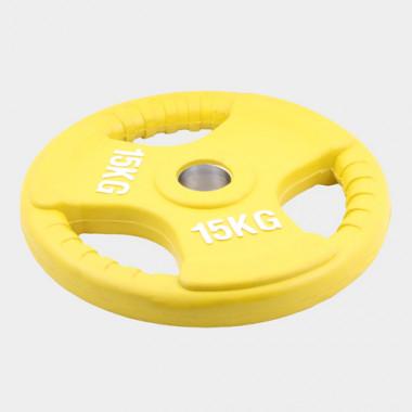 Олимпийский диск евро-классик--с тройным хватом 15 кг.