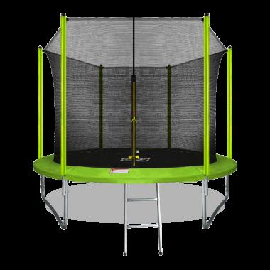 ARLAND Батут 12FT с внутренней страховочной сеткой и лестницей (Light green)